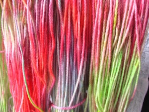 rainbow jelly dyed wool